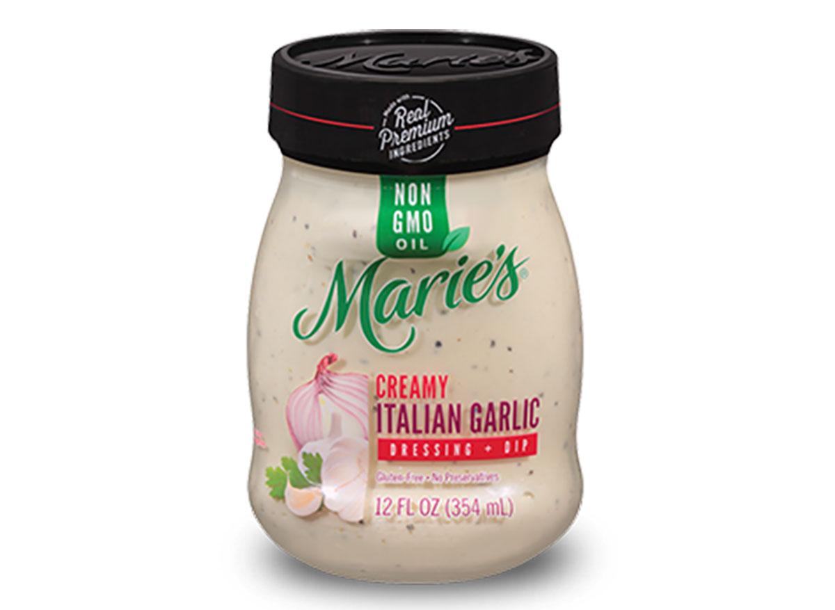 jar of maries creamy italian garlic dip