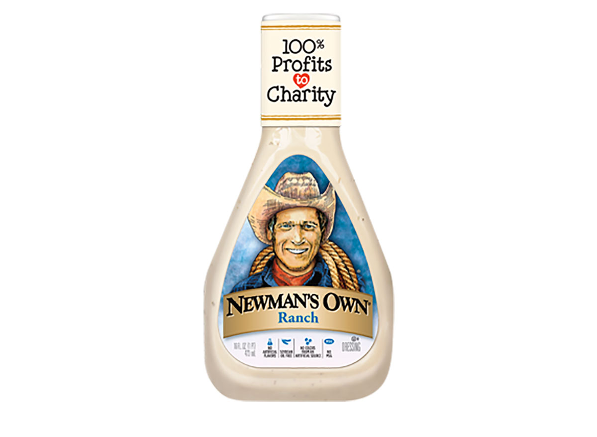 bottle of newmans own ranch dressing