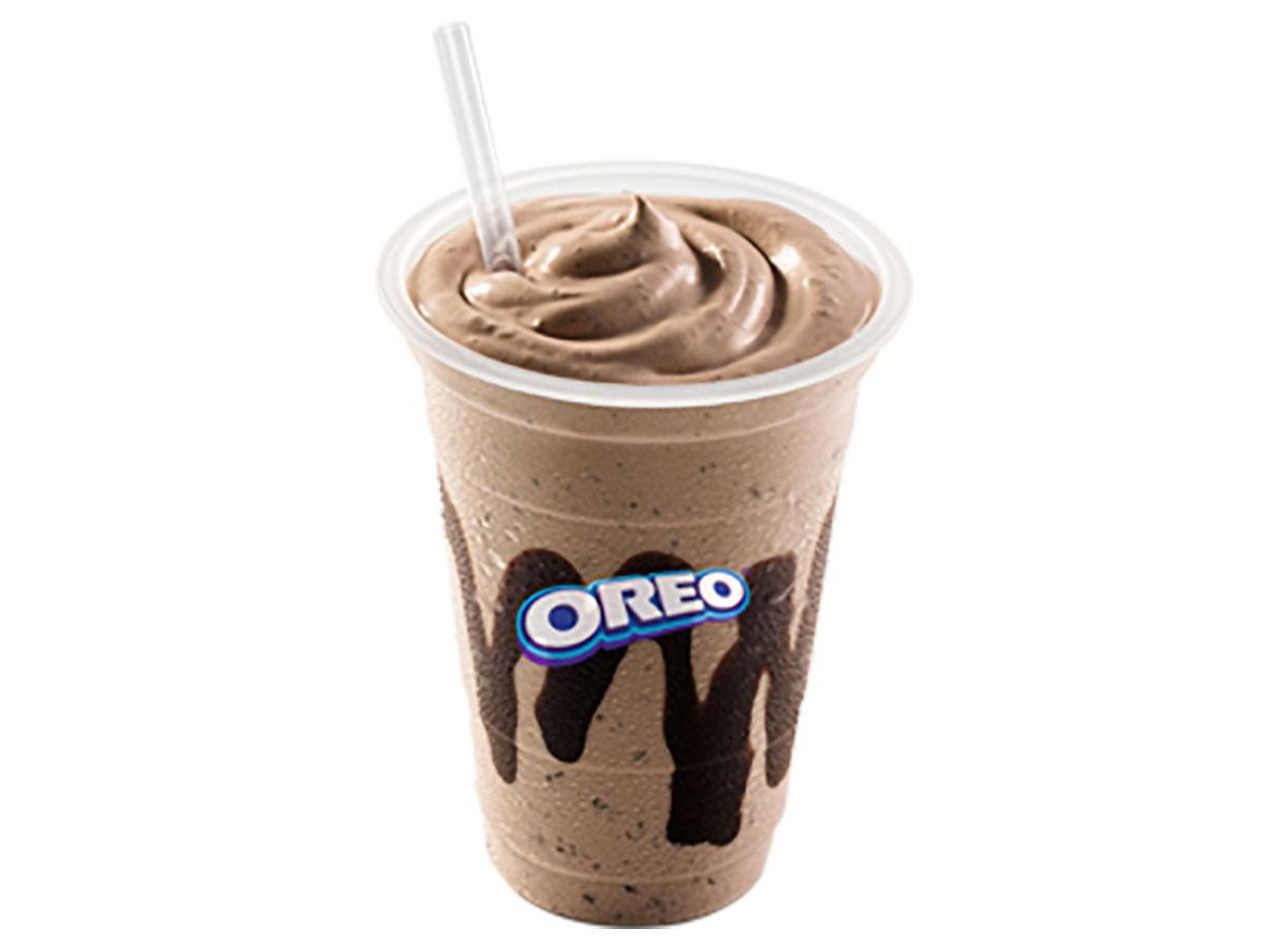 chocolate oreo milkshake from mcdonalds uruguay