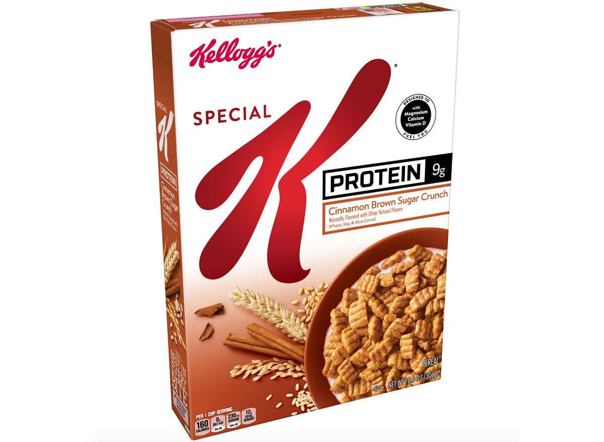 Special k protein cereal cinnamon