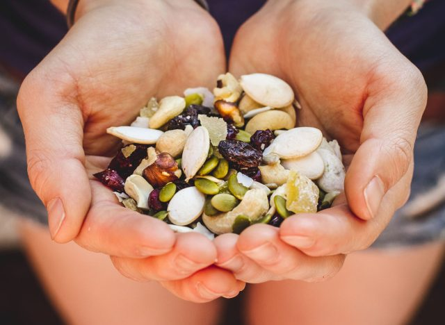 homemade trail mix snack