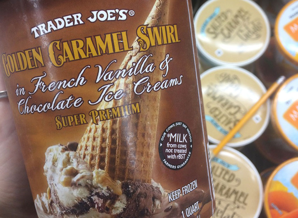 trader joes golden caramel swirl ice cream