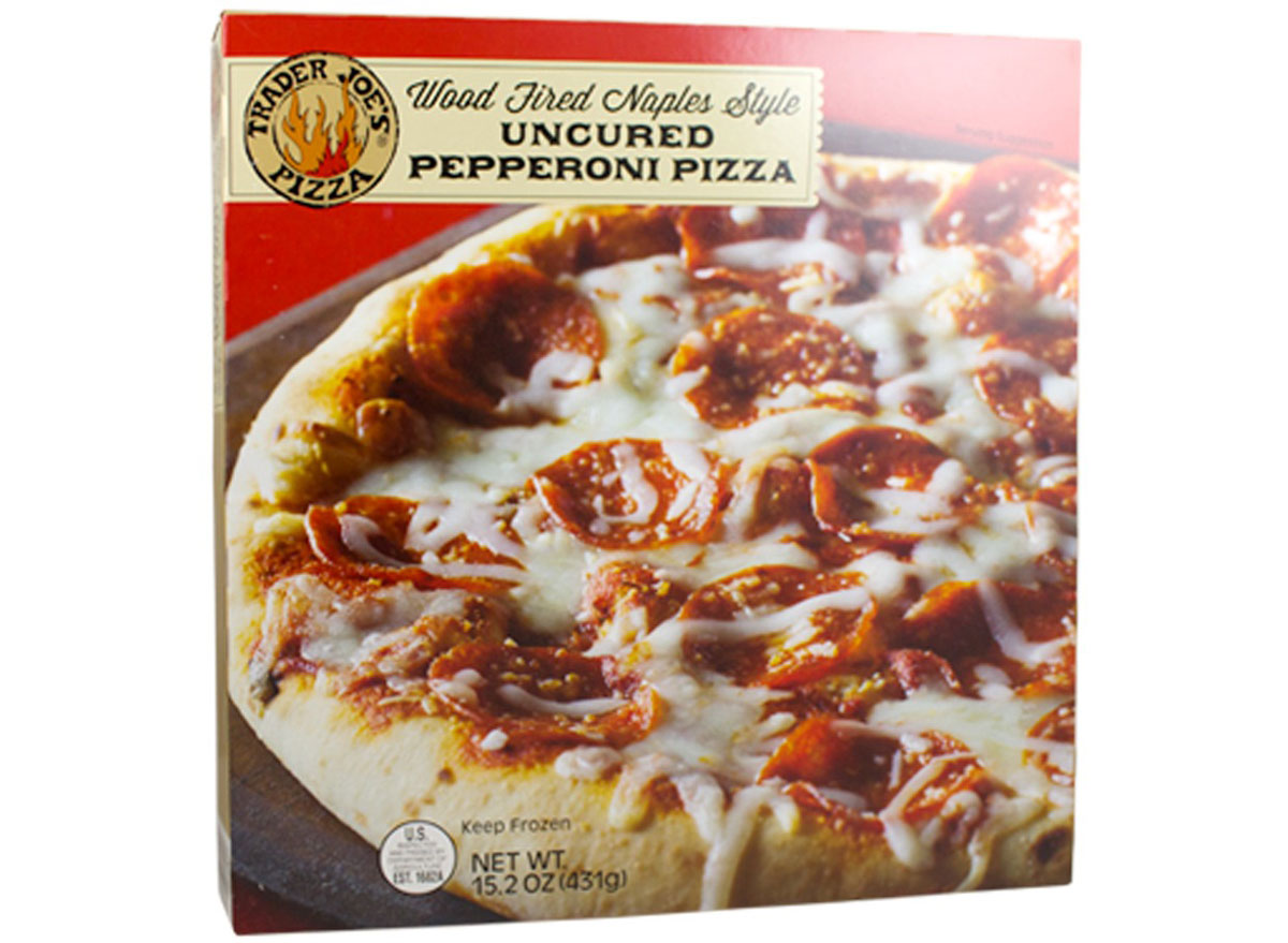 Trader joes wood fired naples pepperoni pizza
