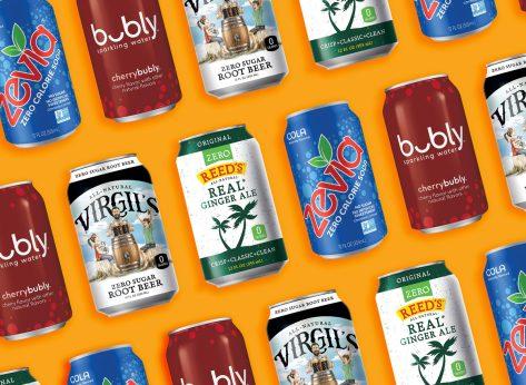 Sugar free soda zero sugar no sugar added soda