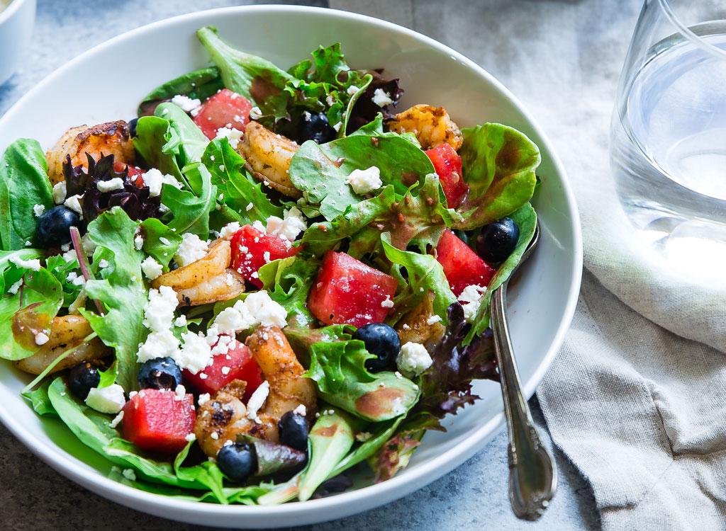 Fruit shrimp salad