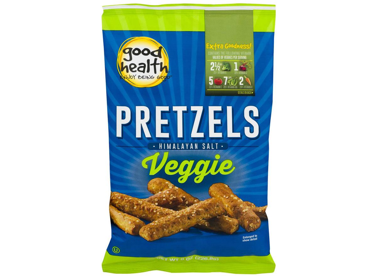 Good health veggie pretzels