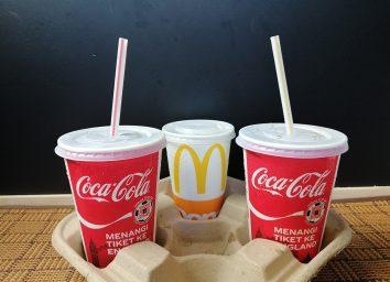 mcdonald's coca cola cups with straws