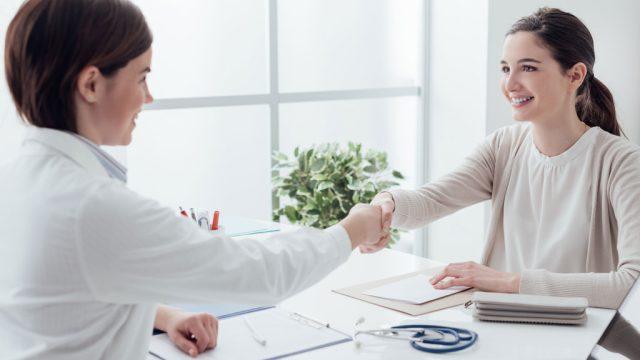 Patient meeting doctor