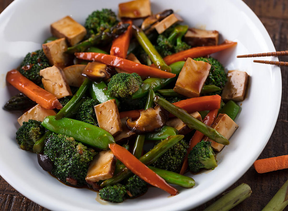 Buddhas feat steamed pf changs - low calorie restaurant orders under 500 calories