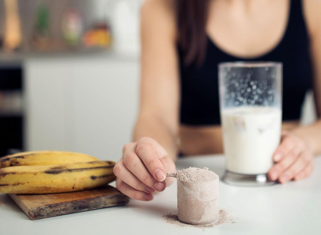 Protein powder smoothie