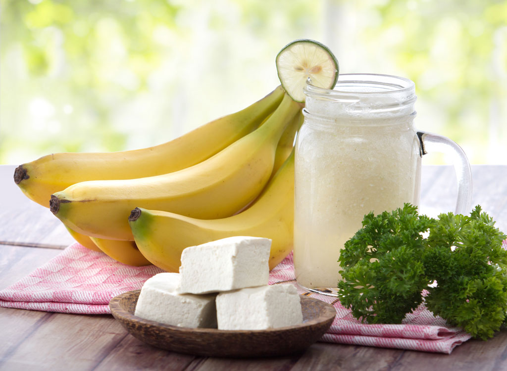 Tofu banana smoothie