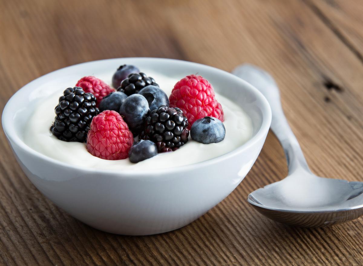 Yogurt fruit berries
