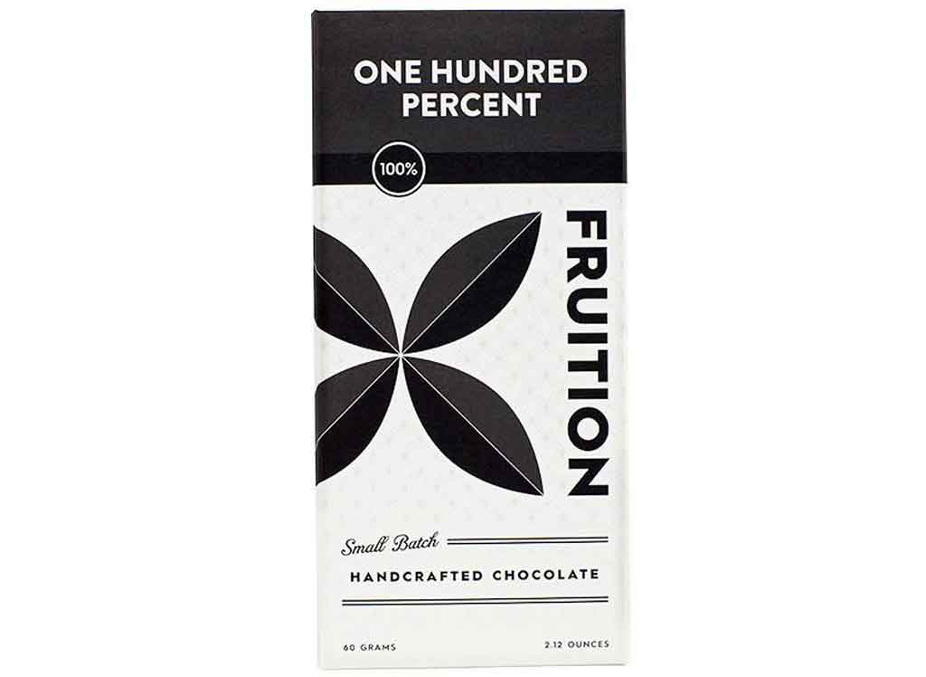 Fruition Chocolate One Hundred Percent Chocolate Bar