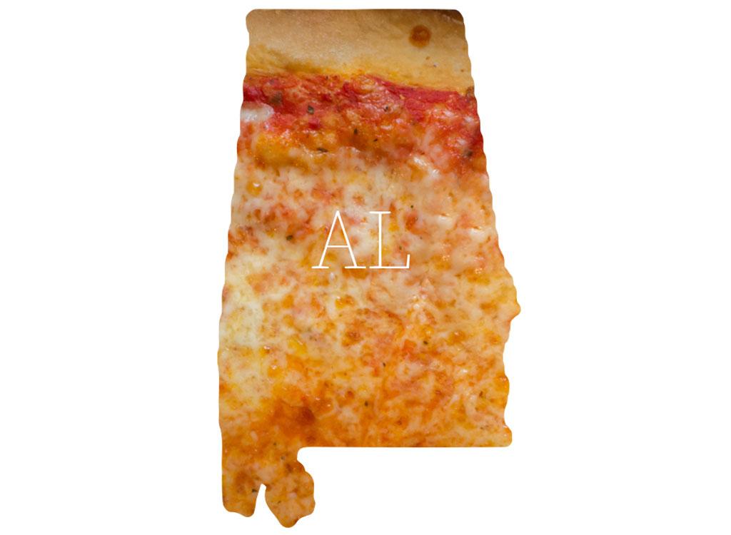 Alabama cheese pizza