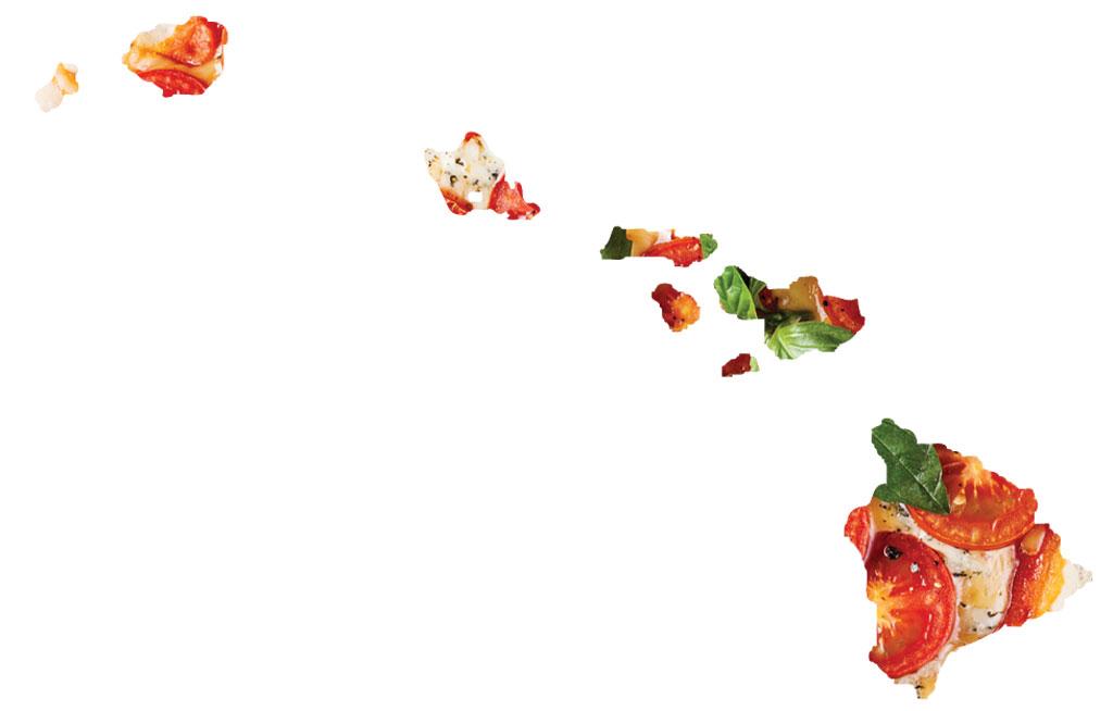 Hawaii caprese pizza