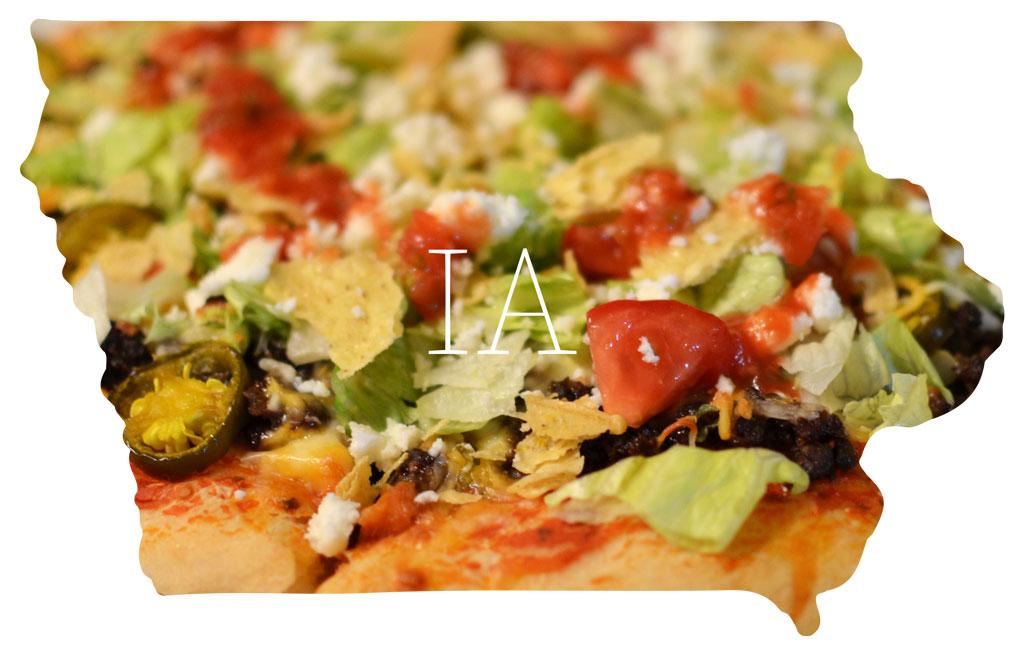 Iowa taco pizza