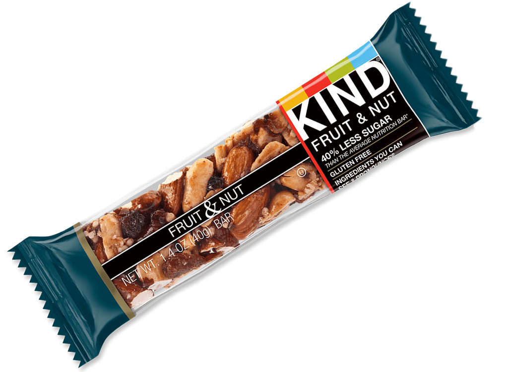 KIND fruit and nut bar - best high protein snacks