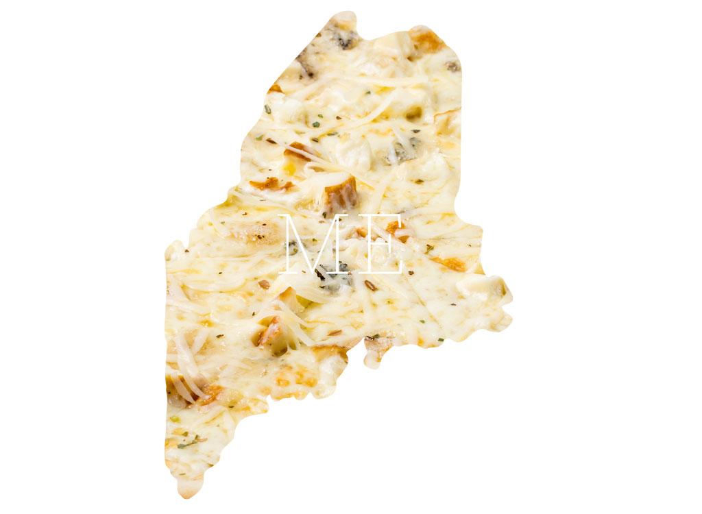 Maine white chicken pizza