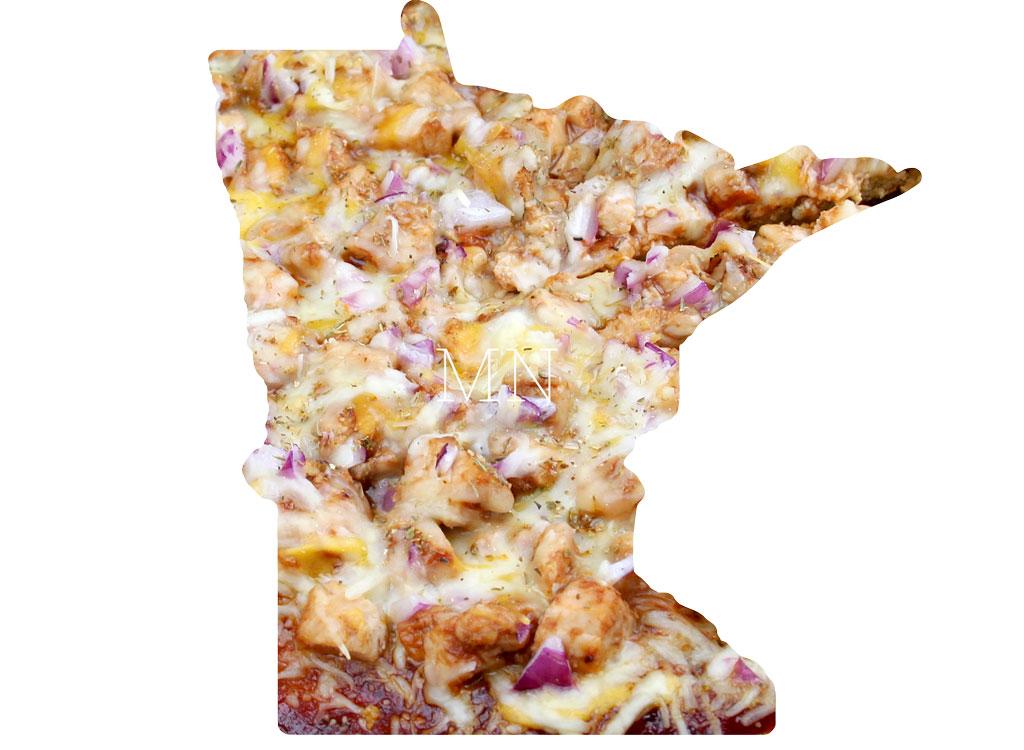 Minnesota BBQ chicken pizza