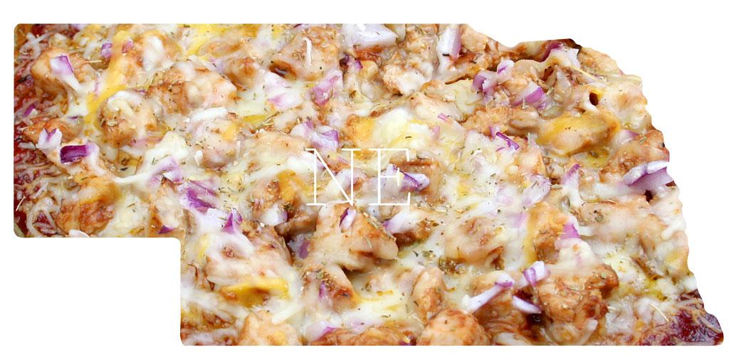 Nebraska BBQ chicken pizza