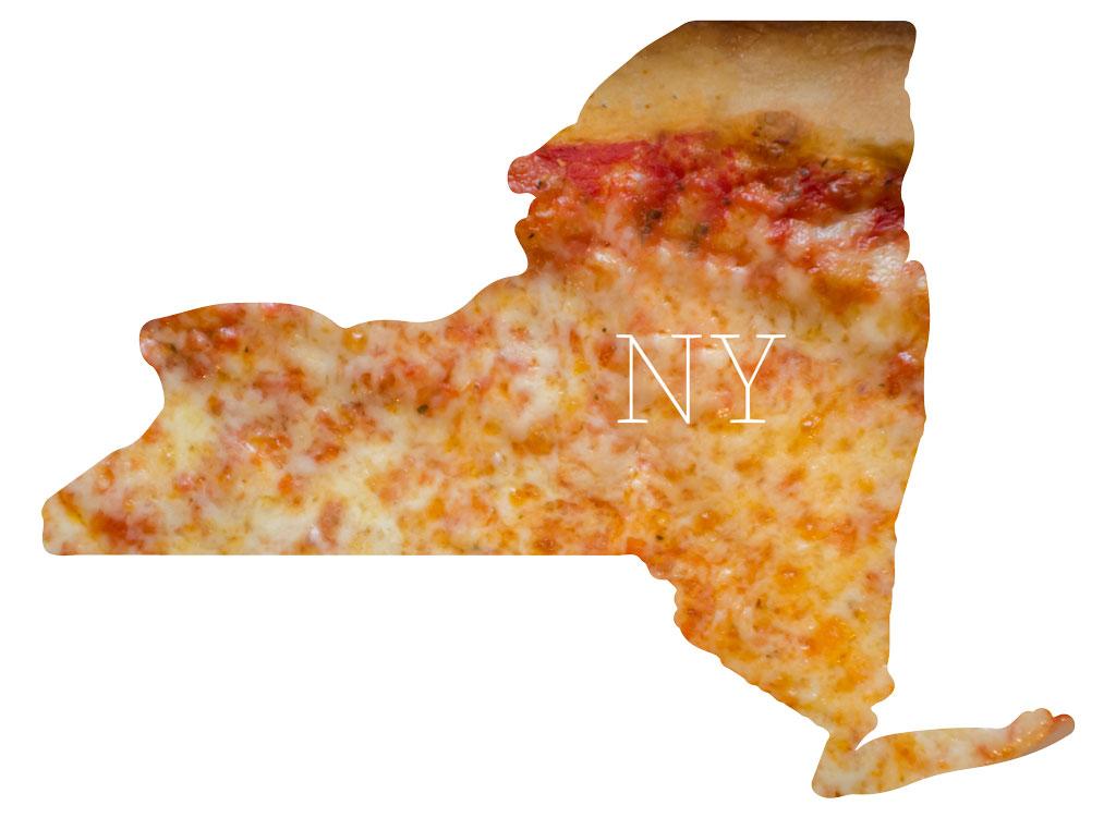 New York cheese pizza