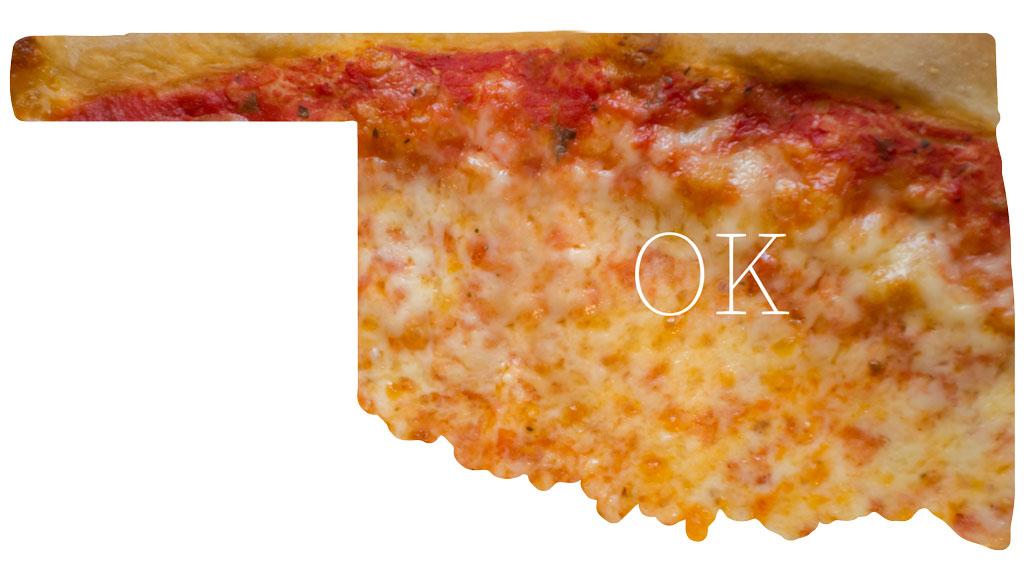 Oklahoma cheese pizza