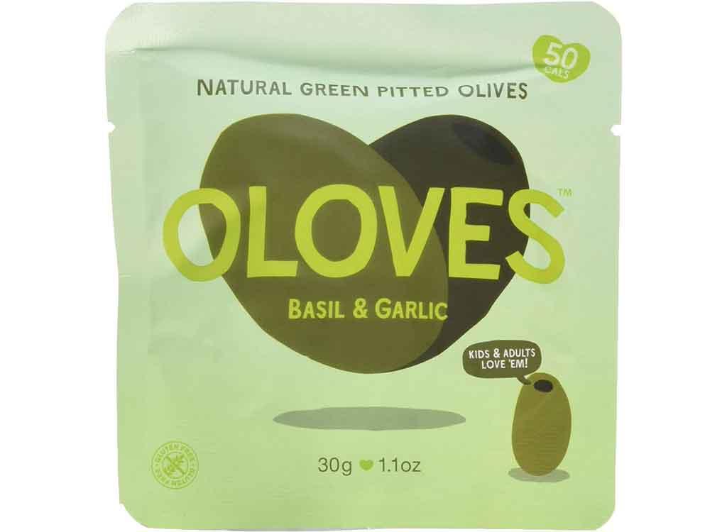 Oloves Basil & Garlic Natural Green Pitted Olives