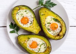 baked eggs avocado