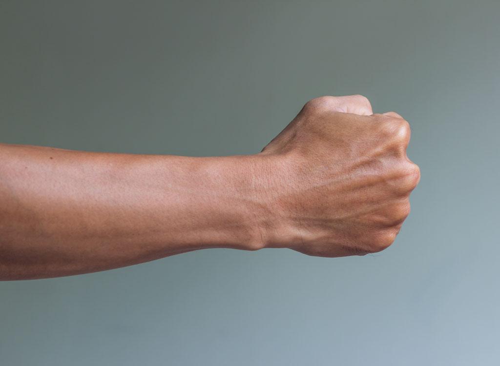 balled fist