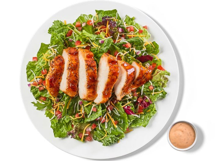 Buffalo Wild Wings Honey BBQ Chicken Salad With Honey BBQ Ranch Dressing
