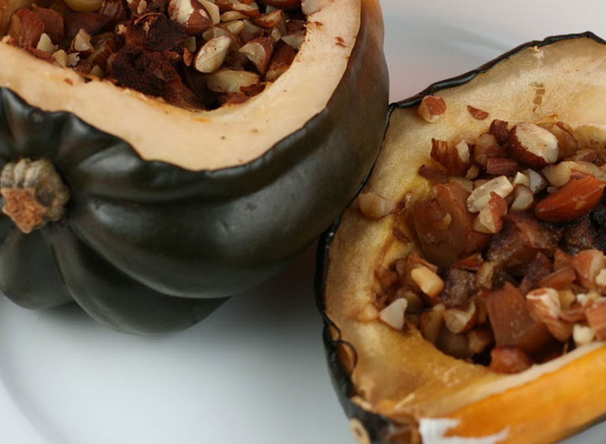 Candied acorn squash