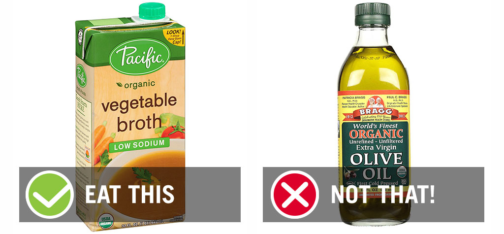 Broth olive oil