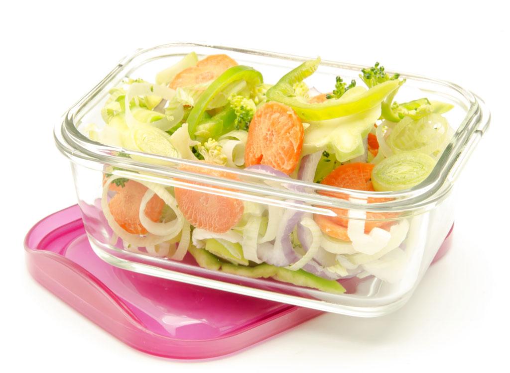 glass salad bowl