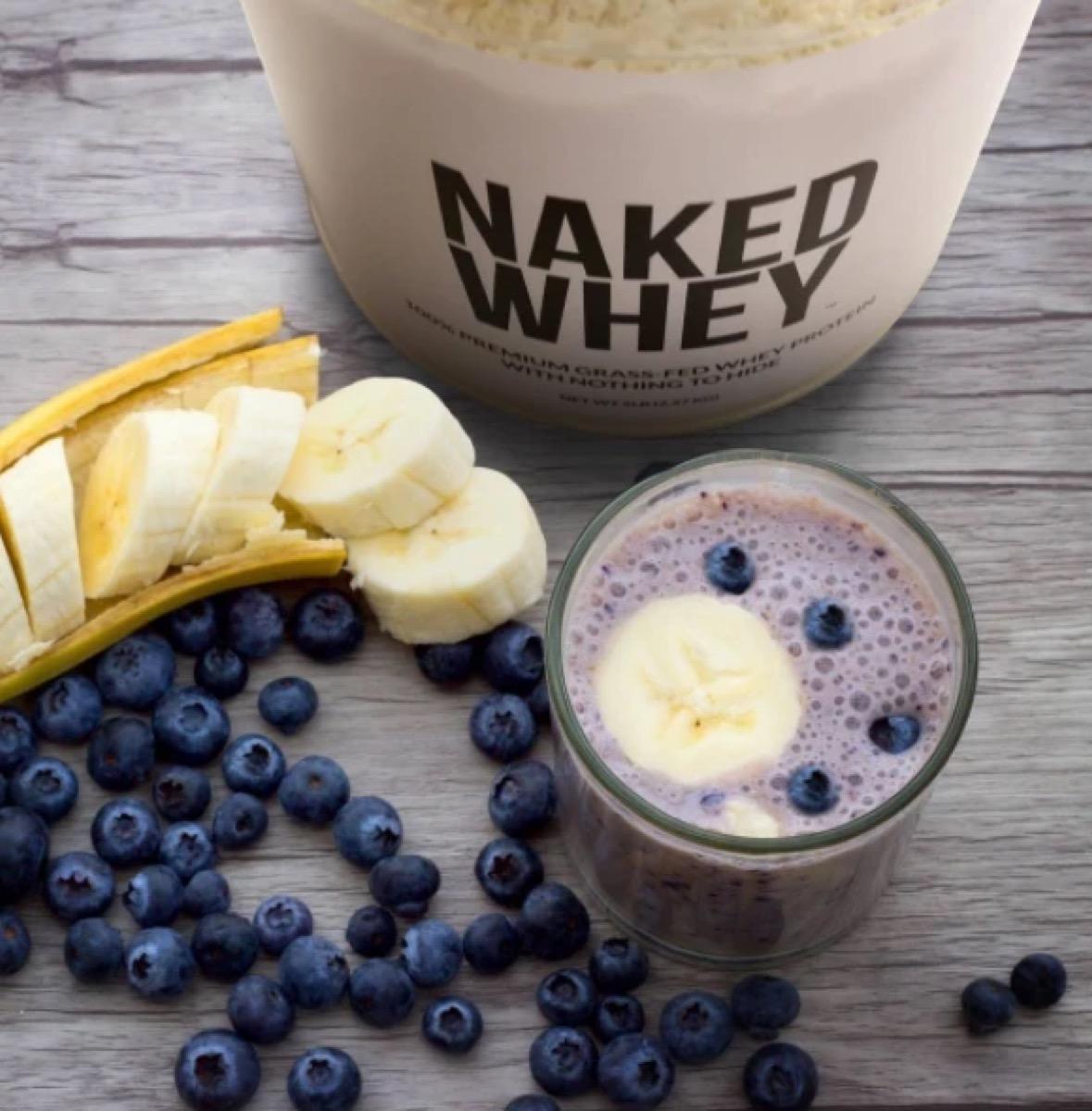 grass fed whey protein shake