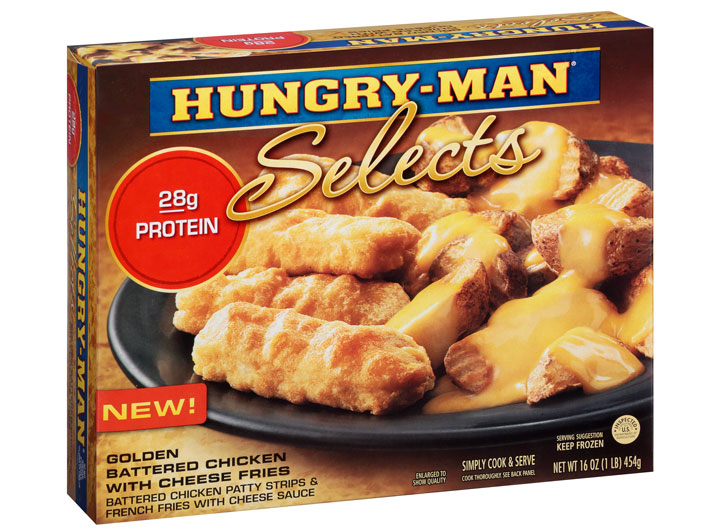 Hungry man chicken cheese fries
