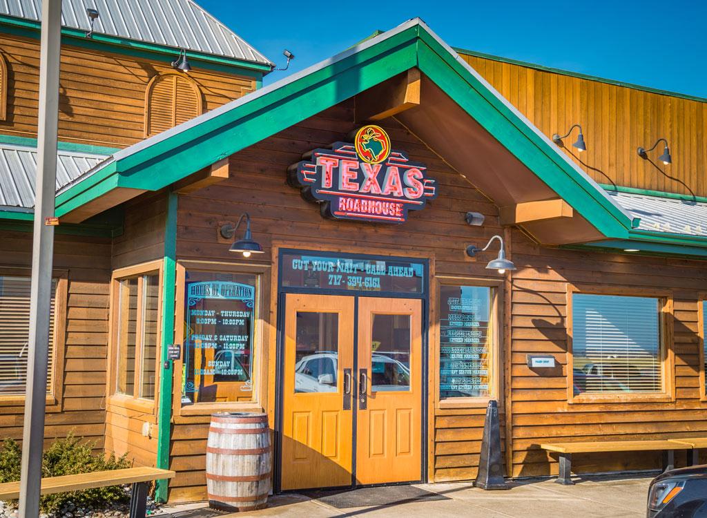 outside of texas roadhouse restaurant