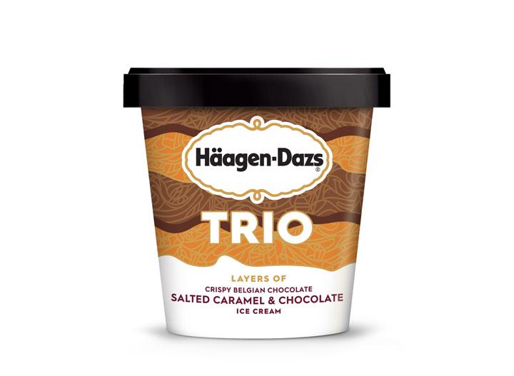 Haagen Dazs trio Salted Caramel