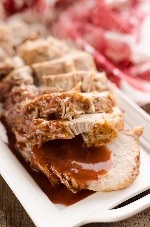 Cranberry Balsamic Pork Loin