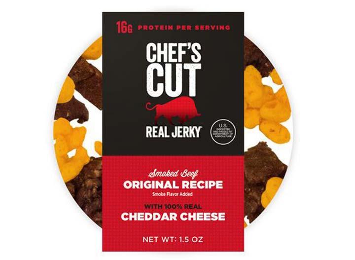 Chefs cut cheddar jerky