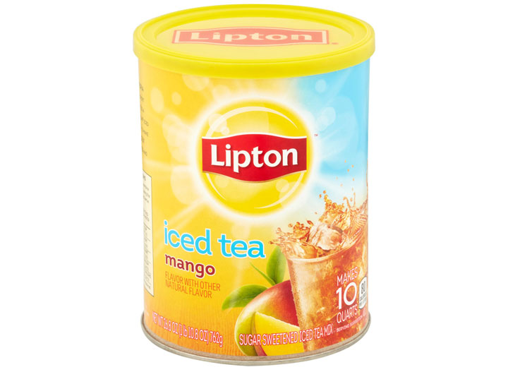 Lipton mango iced tea