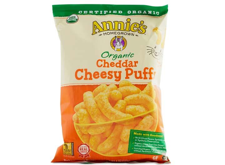 Annies cheddar cheesy puff