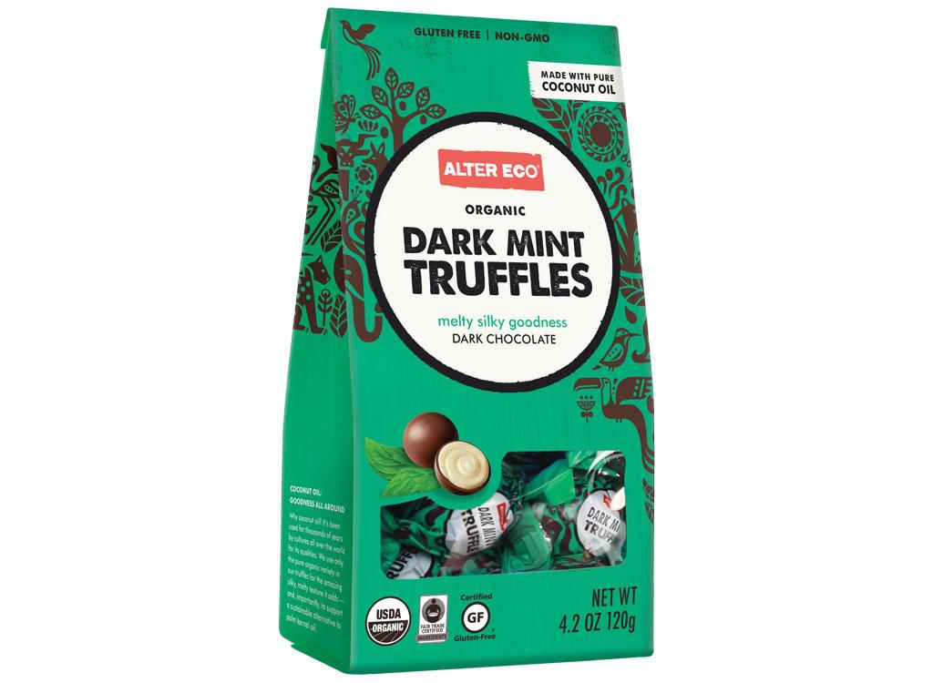 Alter Eco dark mint truffles