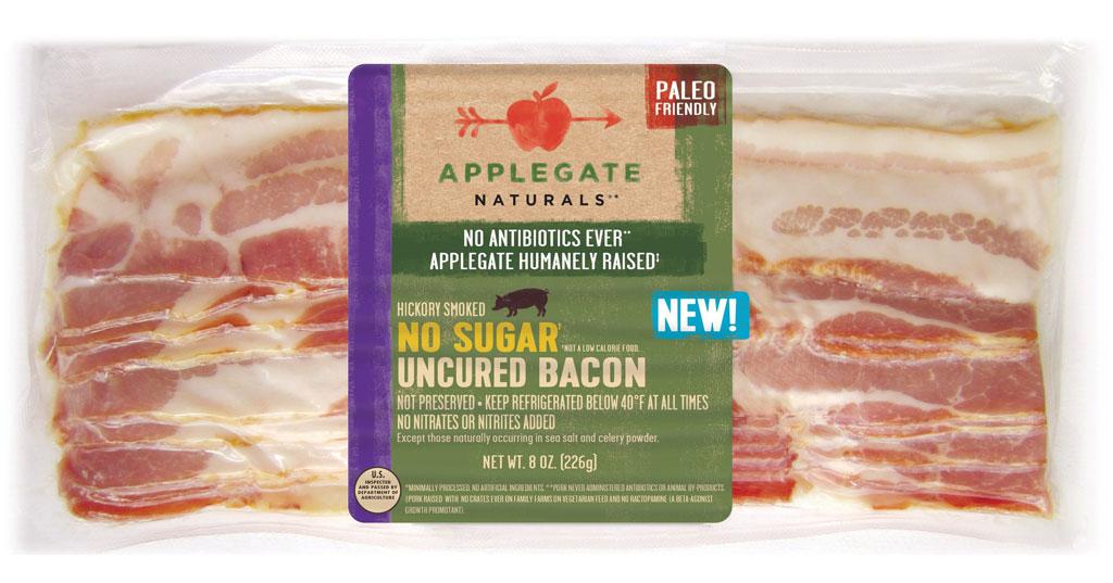 Applegate naturals no sugar uncured bacon