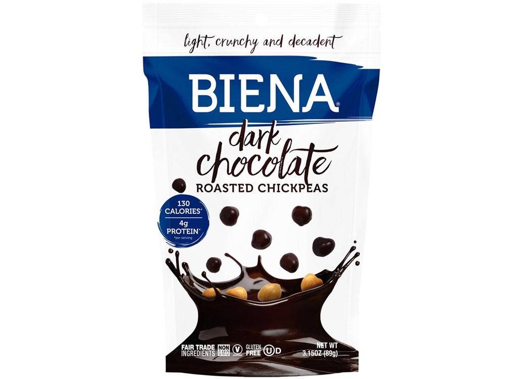 Biena dark chocolate roasted chickpeas