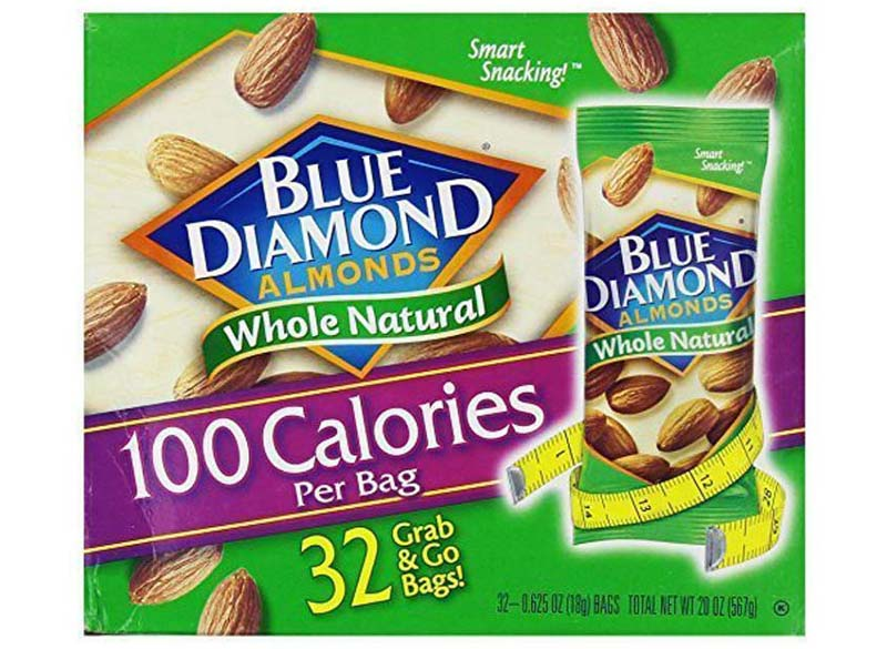 Blue diamond almond packages