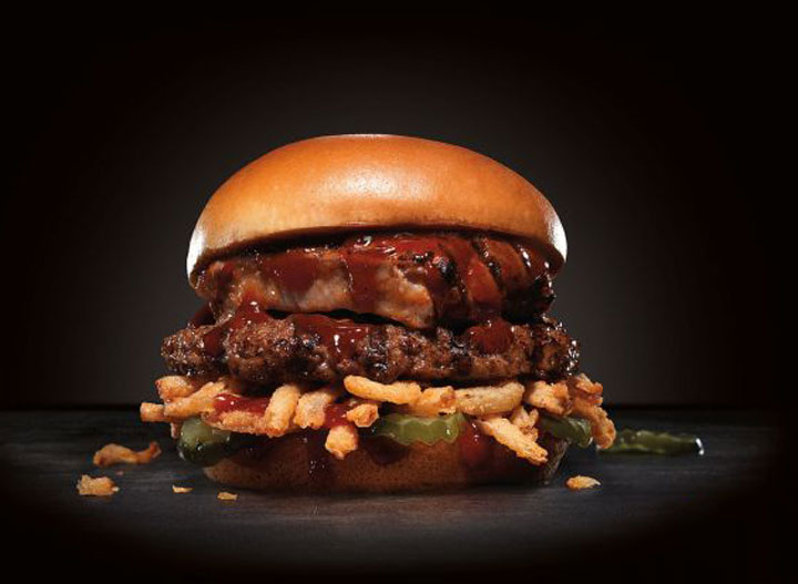 Baby back rib burger