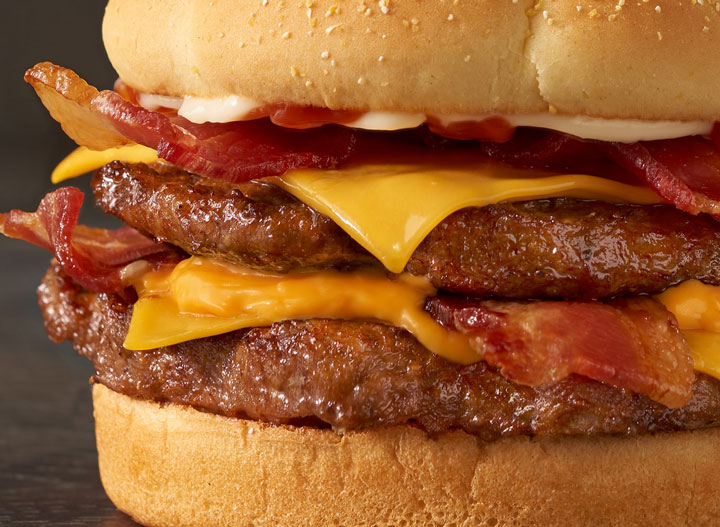 Checkers baconzilla burger