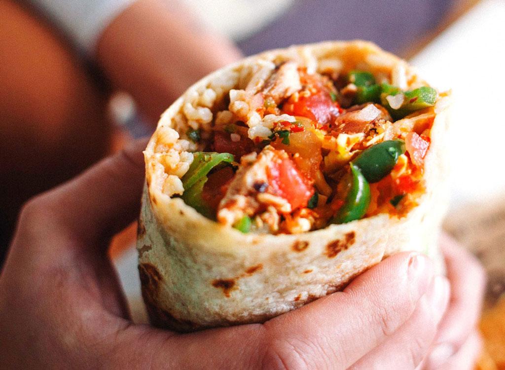 Chipotle burrito new tortilla