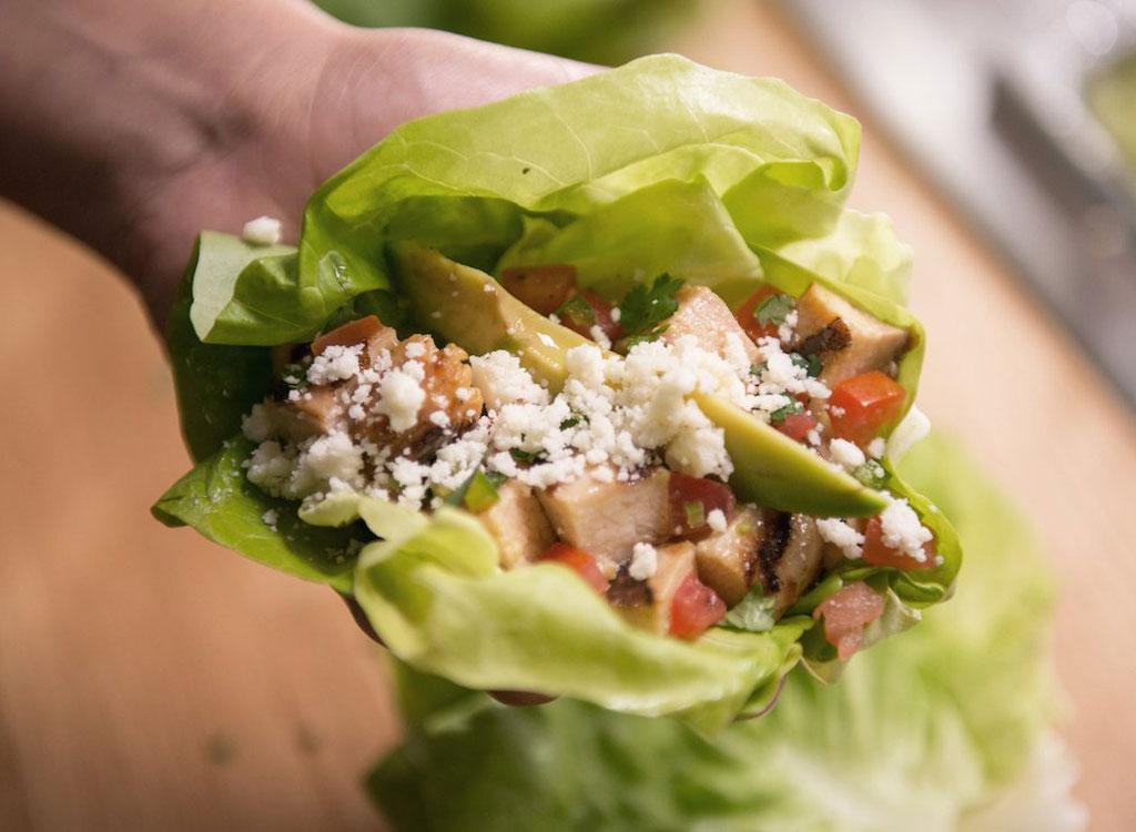 El Pollo Loco lettuce tacos