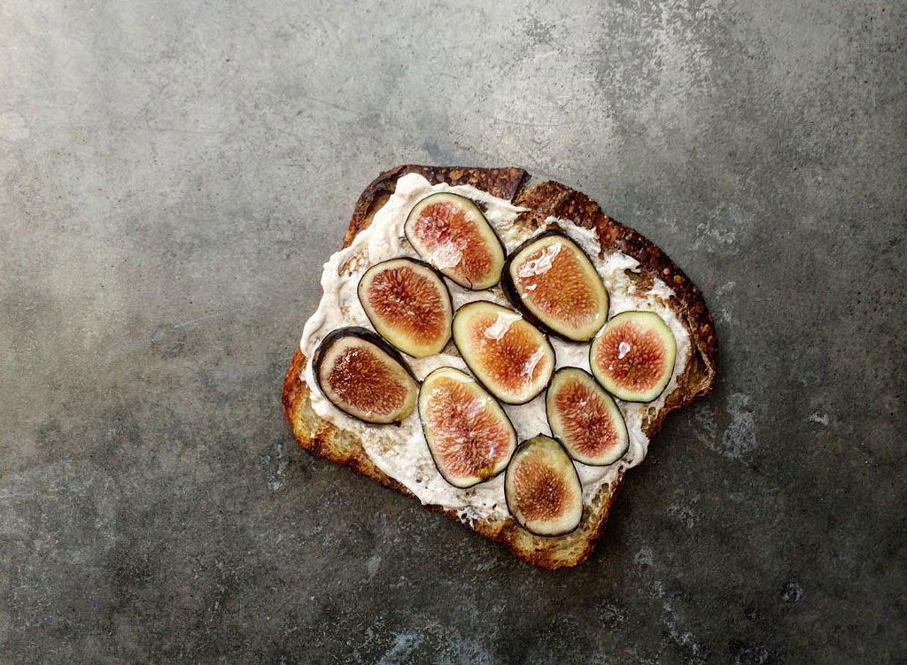 Fig goat cheese toast